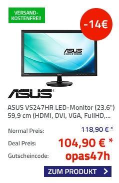 Asus VS247HR 59,9 cm (23,6 Zoll) Monitor - jetzt 12% billiger