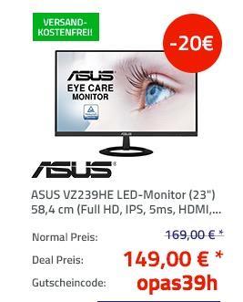 """ASUS VZ239HE LED-Monitor (23"""") 58,4 cm - jetzt 12% billiger"""