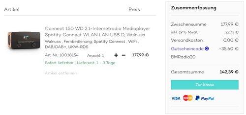 auna Connect 150 WD 2.1-Internetradio - jetzt 20% billiger