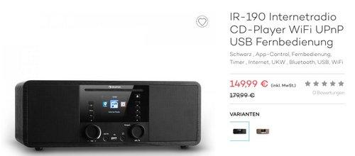 Auna IR-190 Internetradio CD-Player - jetzt 17% billiger
