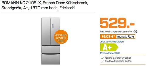 BOMANN KG 2198 IX French Door Kühlschrank - jetzt 15% billiger