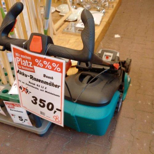 Bosch Rotak Akku-Rasenmäher 43 LI - jetzt 27% billiger