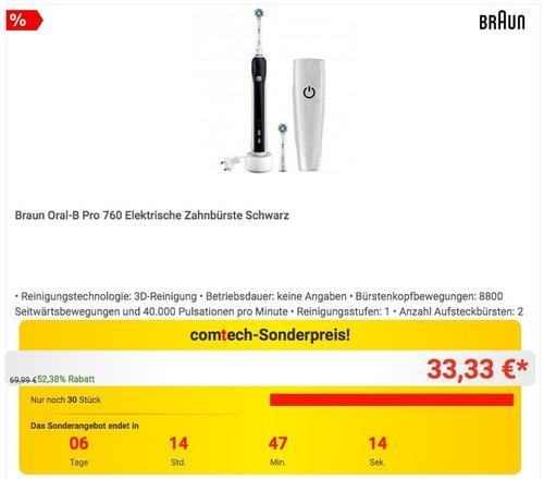 Braun Oral-B Pro 760 Elektrische Zahnbürste - jetzt 14% billiger