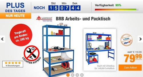 BRB 74221 Arbeits- und Packtisch - jetzt 20% billiger