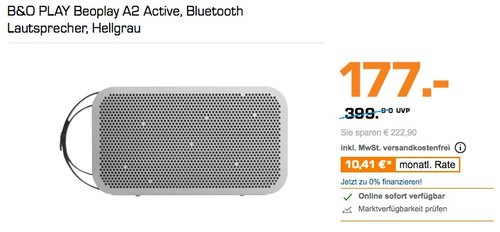 B&O PLAY Beoplay A2 Active Bluetooth Lautsprecher - jetzt 23% billiger