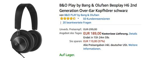 B&O Play by Bang & Olufsen Beoplay H6 2nd Generation - jetzt 26% billiger