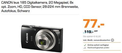 CANON Ixus 185 Digitalkamera schwarz - jetzt 13% billiger