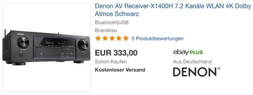 Denon AV Receiver-X1400H 7.2 Receiver - jetzt 15% billiger