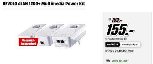 DEVOLO dLAN 1200+ Multimedia Power Kit - jetzt 14% billiger