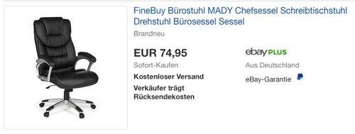 FineBuy Bürostuhl MADY Kunstleder - jetzt 17% billiger