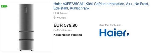 Haier A3FE735CMJ Kühl-Gefrier-Kombination - jetzt 20% billiger