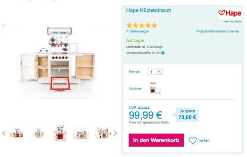 Hape Küchentraum Weiß - jetzt 12% billiger