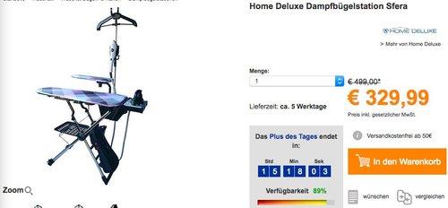 Home Deluxe Dampfbügelstation Sfera - jetzt 11% billiger
