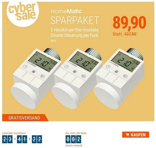 HomeMatic Funk-Heizkoerperthermostat 3er Set - jetzt 17% billiger