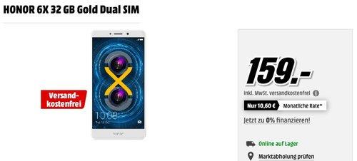 Honor 6X Smartphone 32 GB Gold Dual SIM - jetzt 5% billiger