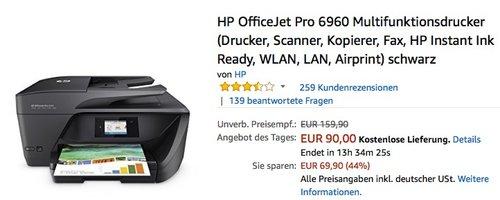 HP OfficeJet Pro 6960 Multifunktionsdrucker - jetzt 16% billiger