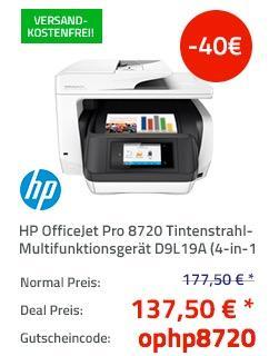 HP OfficeJet Pro 8720 Tintenstrahl-Multifunktionsdrucker - jetzt 23% billiger