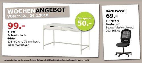 IKEA ALEX Schreibtisch - jetzt 34% billiger