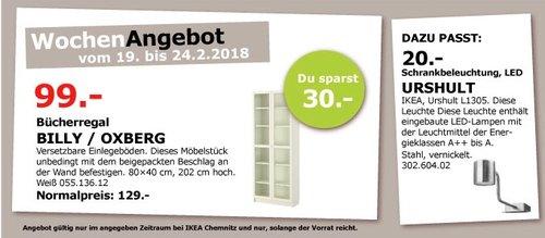 IKEA BILLY OXBERG Bücherregal - jetzt 23% billiger