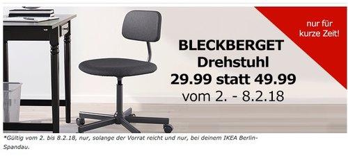IKEA BLECKBERGET Drehstuhl - jetzt 40% billiger