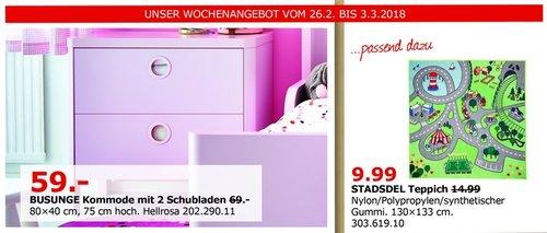 IKEA BUSUNGE Kommode mit 2 Schubladen - jetzt 14% billiger