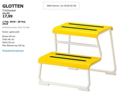 IKEA GLOTTEN Tritthocker - jetzt 28% billiger