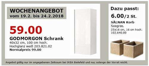IKEA GODMORGON Schrank - jetzt 40% billiger