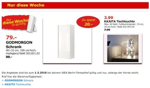 IKEA GODMORGON Schrank - jetzt 20% billiger