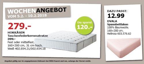IKEA HOKKASEN Taschenfederkernmatratze - jetzt 30% billiger