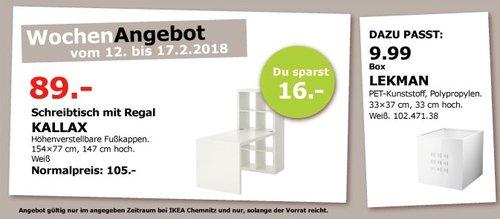 IKEA KALLAX Schreibtisch mit Regal - jetzt 15% billiger