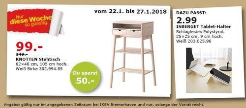 IKEA KNOTTEN Stehtisch - jetzt 34% billiger