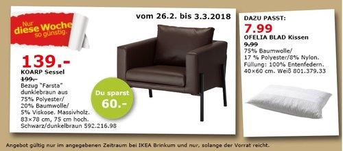 IKEA KOARP Sessel - jetzt 30% billiger