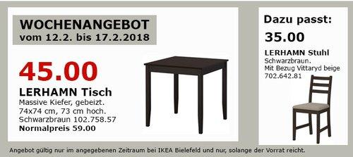 IKEA LERHAMM Tisch - jetzt 24% billiger