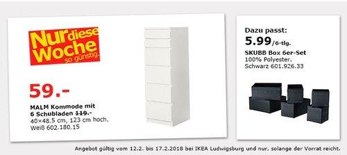 IKEA MALM Kommoder mit 6 Schubladen - jetzt 50% billiger