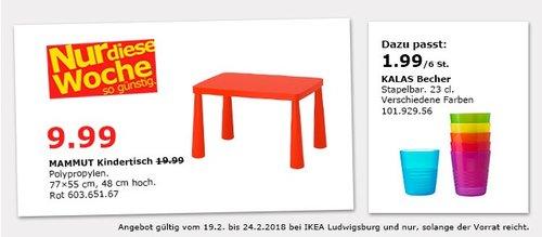 IKEA MAMMUT Kindertisch - jetzt 50% billiger
