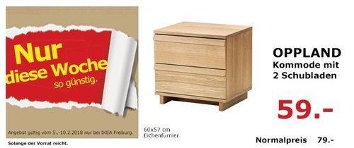 IKEA OPPLAND Kommode mit 2 Schubladen - jetzt 25% billiger
