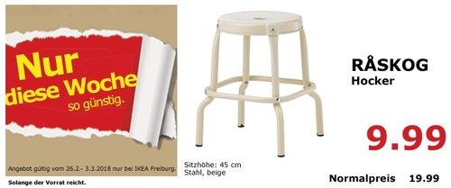 IKEA RASKOG Hocker - jetzt 50% billiger
