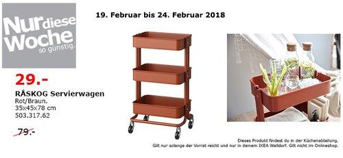 IKEA RASKOG Servierwagen - jetzt 63% billiger