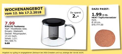 IKEA RIKLIG Teekanne - jetzt 20% billiger