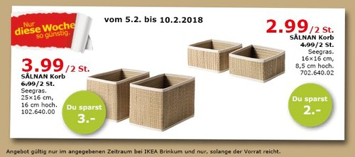 IKEA SALMAN Korb 2St. - jetzt 43% billiger