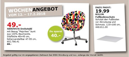 IKEA SKRUVSTA Drehstuhl - jetzt 45% billiger