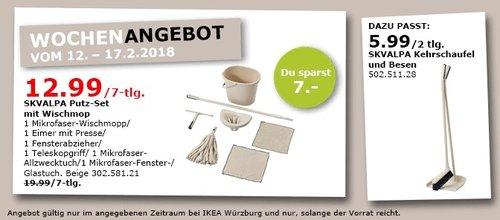IKEA SKVALPA Putz-Set mit Wischmopp 7-tlg - jetzt 35% billiger