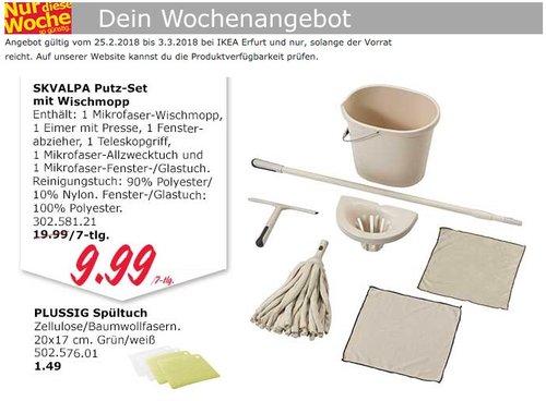 IKEA SKVALPA Putz-Set mit Wischmopp - jetzt 50% billiger