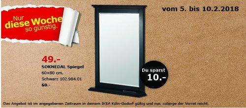 IKEA SOKNEDAL Spiegel - jetzt 17% billiger