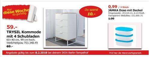 IKEA TRYSIL Kommode mit 4 Schubladen - jetzt 14% billiger