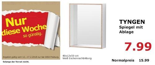 IKEA TYNGEM Spiegel mit Ablage - jetzt 50% billiger