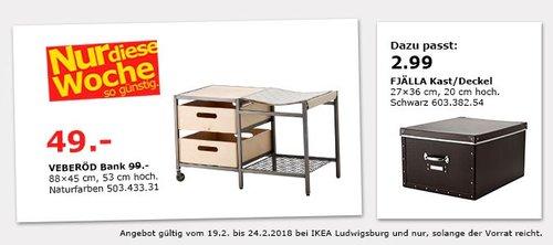 IKEA VEBERÖD Bank - jetzt 51% billiger