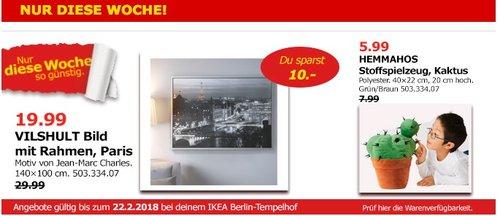 IKEA VILSHULT Bild mit Rahmen, Paris - jetzt 33% billiger