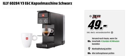ILLY 60284 Y3 E&C Kapselmaschine Schwarz - jetzt 35% billiger