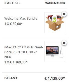 "IMAC 21.5"" 2.3 GHZ DUAL-CORE I5 - 1 TB HDD Bundle - jetzt 9% billiger"
